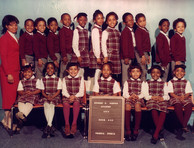 Date of Photograph: ca. 1984  R.D. Henton Academy room 203 class photo.  Physical Attributes: Color (2198 x 1683 px; 96 dpi)  Photo Credit: Courtesy of R.D. Henton Breakthrough Ministries.  R.D. Henton Academy | R.D. Henton Photo Library