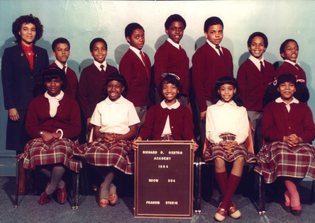 Date of Photograph: ca. 1984  R.D. Henton Academy room 304 class photo.  Physical Attributes: Color (2207 x 1563 px; 96 dpi)  Photo Credit: Courtesy of R.D. Henton Breakthrough Ministries.  R.D. Henton Academy | R.D. Henton Photo Library