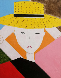 """Lady in a Straw Hat"""