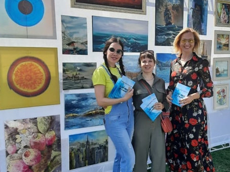 """""""Crest of a Wave"""" exhibition at the Samara boat show, Russia"""