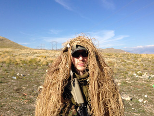 Working on the Ghillie suit