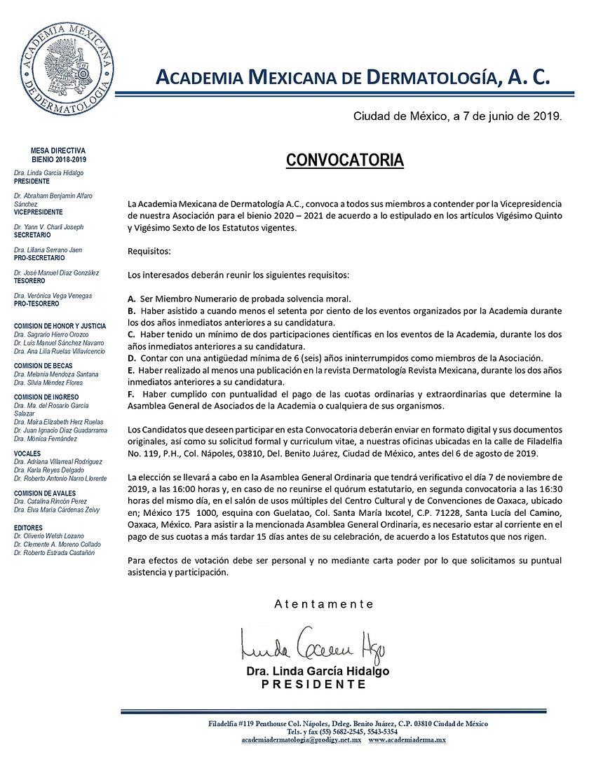 CONVOCATORIA VICEPRESIDENCIA 2020-2021 F