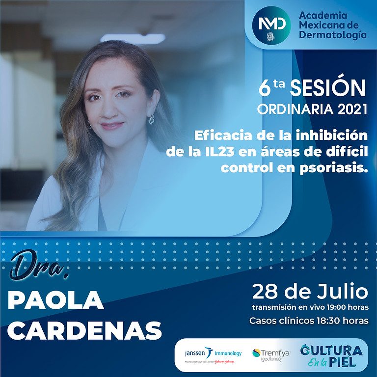 6ta Sesión mensual | Psoriasis por Dra. Paola Cardenas