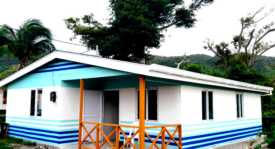Construccion de casa en sistema SIP en isla de providencia