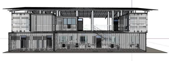 Diseño de Oficina en Containers