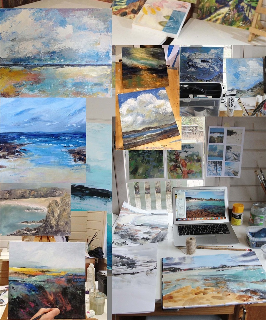 Selection of landscape paintings by Applegarth Art Group