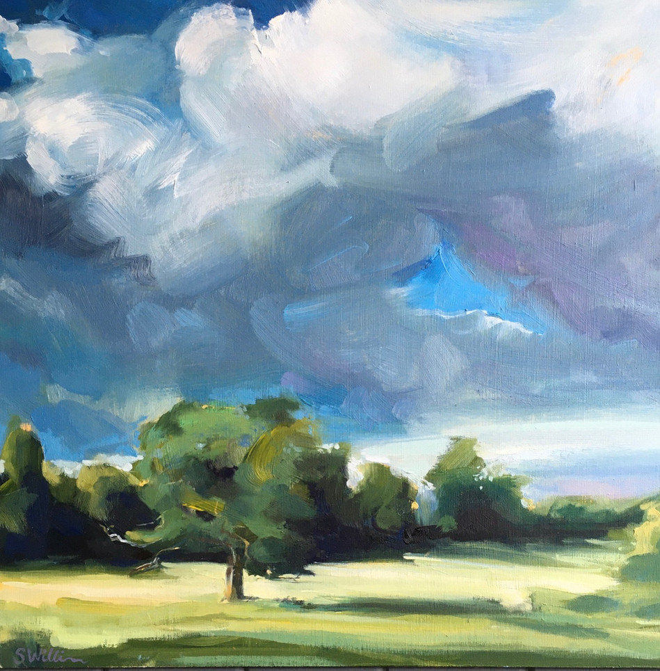 Thunder Clouds between Kingham and Churchill, Cotswolds.