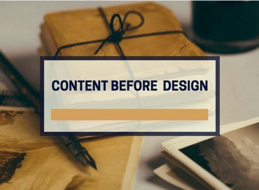 Content before design