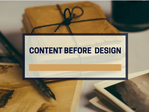 Content before design