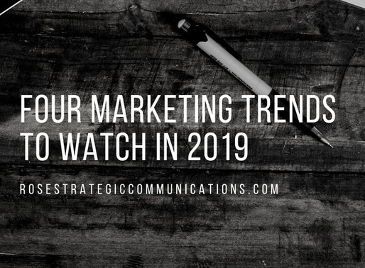 Four Marketing Trends to Watch in 2019