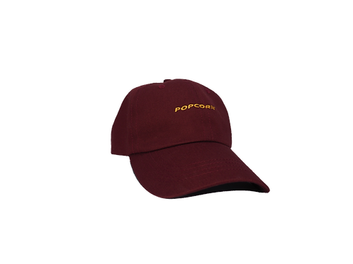 Maroon Dad Hat Vista Frontal