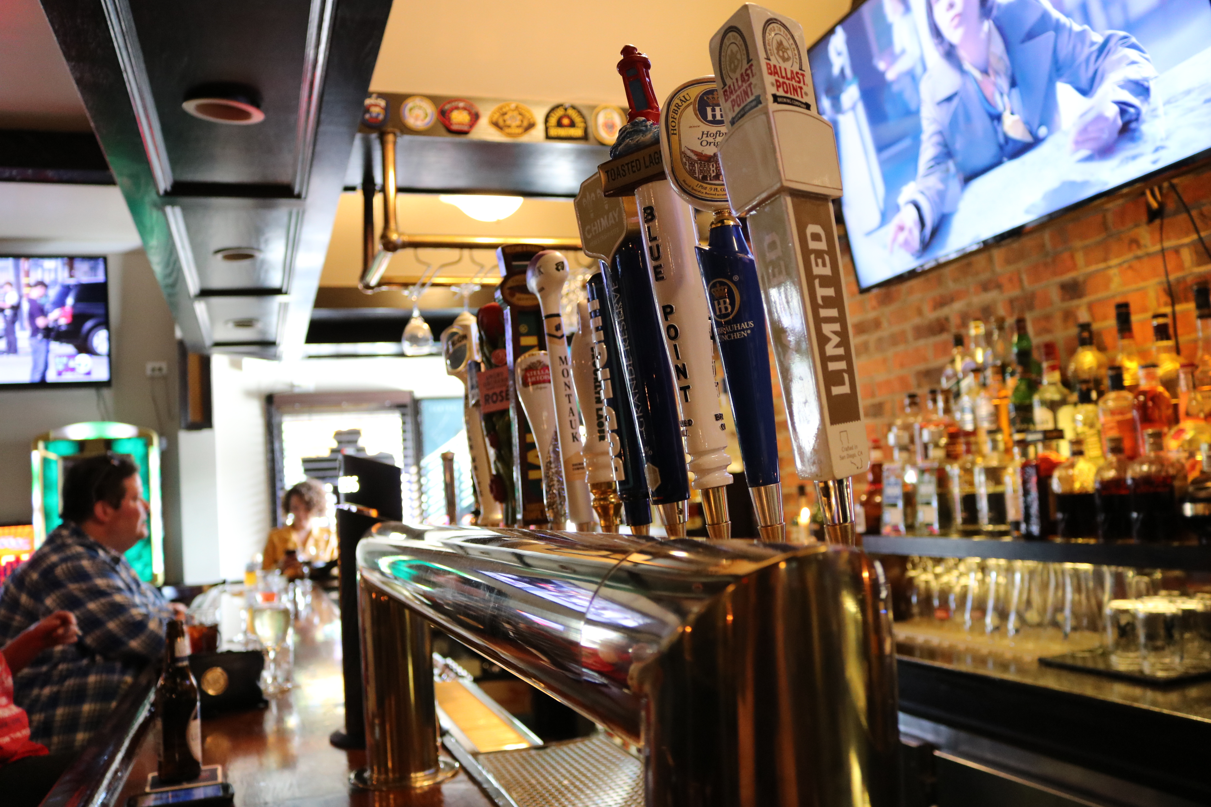 Beers on tap