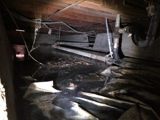 Sewage clean-up under home in San Mateo