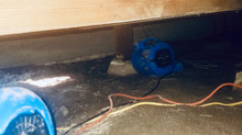 Crawlspace Water Line Fail in San Carlos