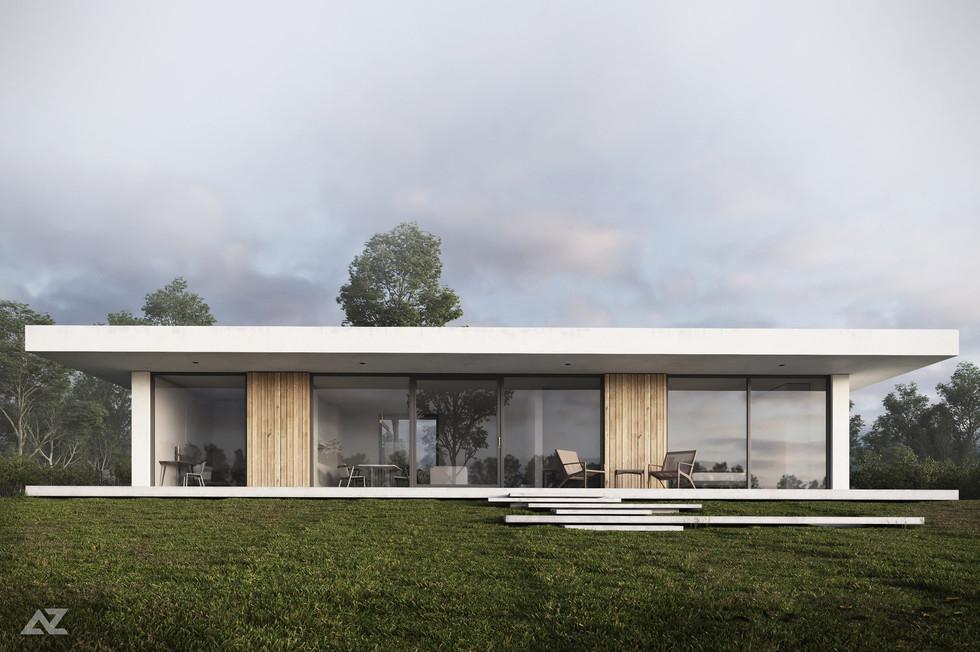 Архитектурный проект дома. Стиль минимализм.