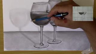 Como desenhar e dar efeito de transparência passo a passo