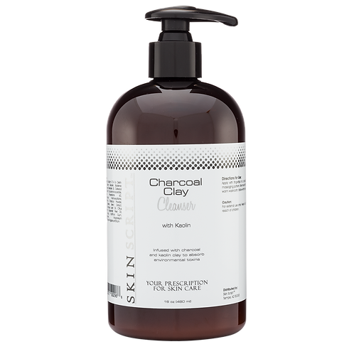16oz Charcoal Clay Cleanser with Kaolin
