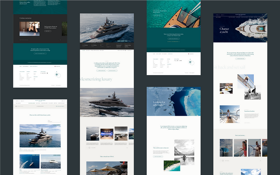 View showing full page designs for the desktop site