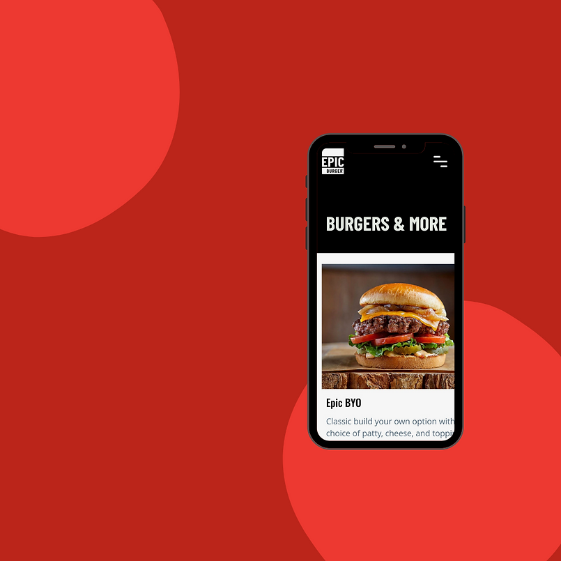 Epic burger mobile app