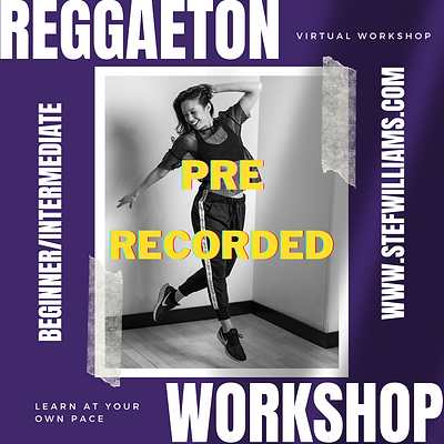 6 Week Beginner/Intermediate Reggaetón Workshop (Pre-Recorded)