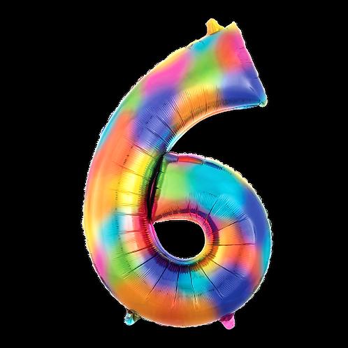 Rainbow Number '6'