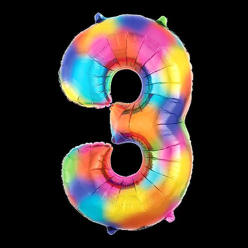 Rainbow Number '3'
