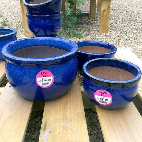 Glazed Bell Pot
