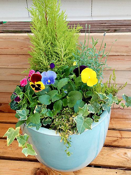 PREMIUM 15inch CERAMIC Autumn Winter planted Pot