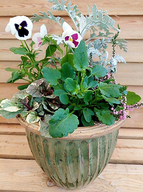 10inch CERAMIC Autumn Winter planted Pot