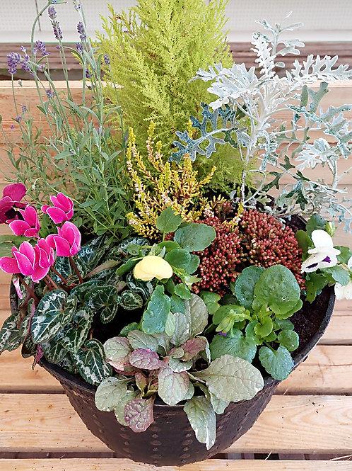 17inch PLASTIC Autumn Winter planted Pot