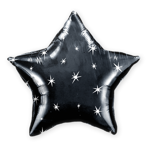 Black Star with Sparkles