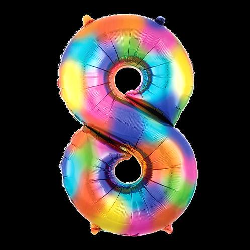 Rainbow Number '8'