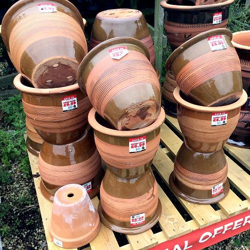 Semi-Glazed Terracotta Pot