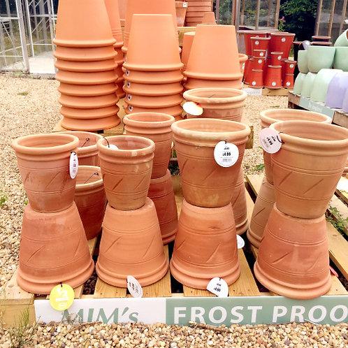 Patterned Terracotta Pots