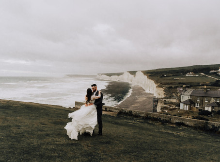 Sydney + Mathew | Elopement Shoot In Beachy Head England