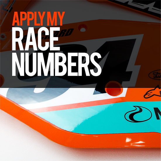 Application - Race Number Plates