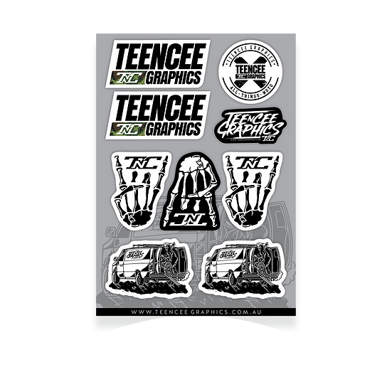 A4 Sticker Sheet - Teencee 1.0