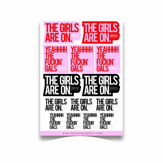 A4 Sticker Sheet - YEAH THE GIRLS