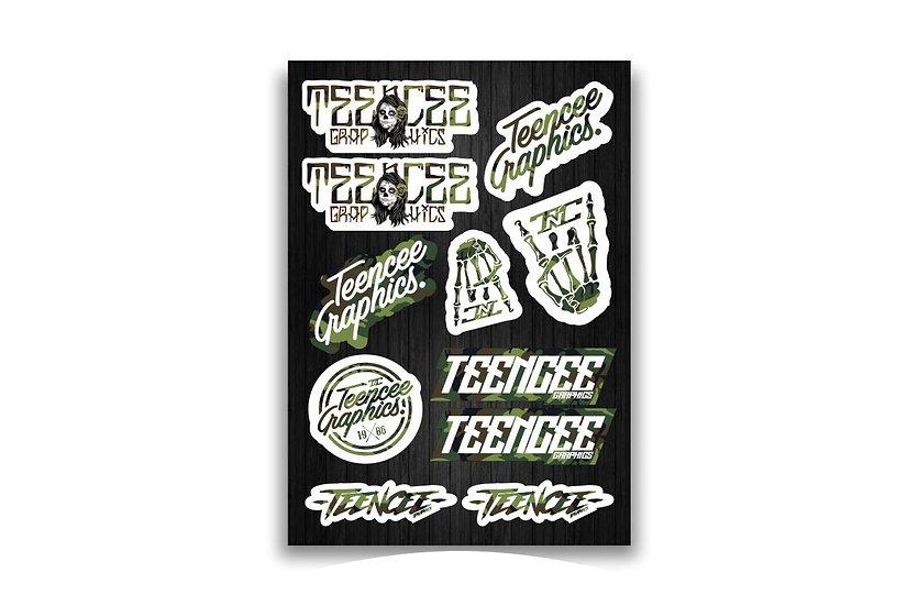 A4 Sticker Sheet - Camo
