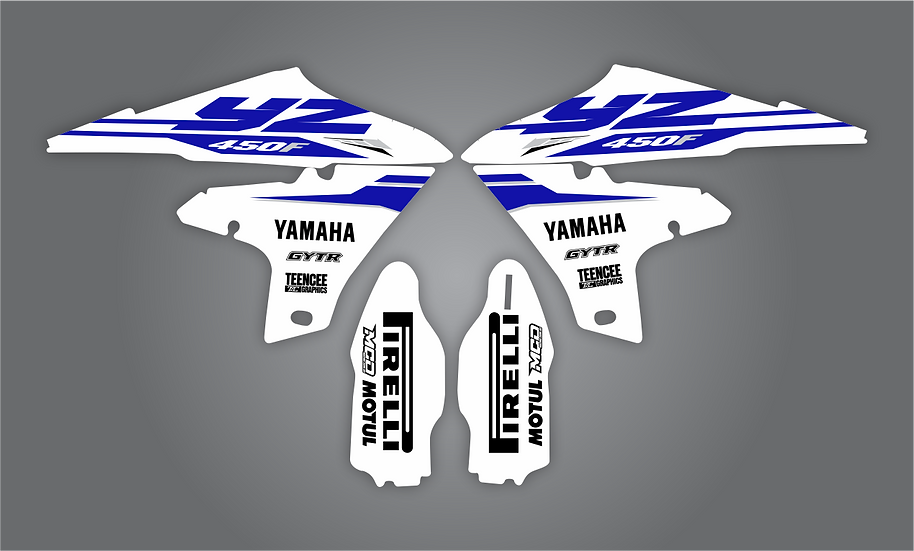 Shroud & Fork Graphics to suit YZF450 2018