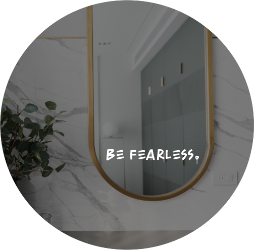 """DAILY INSPO DECAL   """"Be fearless"""""""