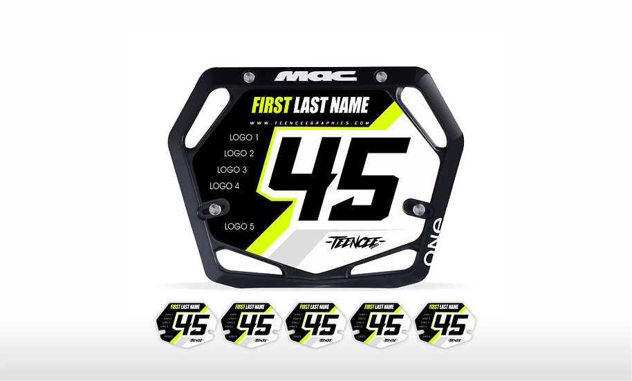 BMX PLATE DECAL -LIME