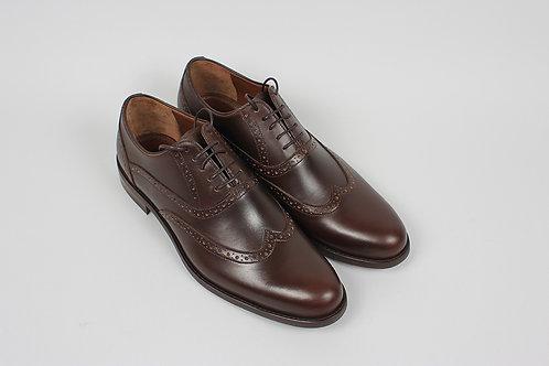 обувь оксфорды полуброги коричневые