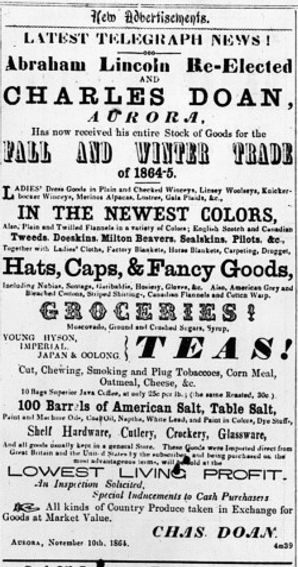 Nov. 18, 1864 - The Newmarket Era, p. 3.