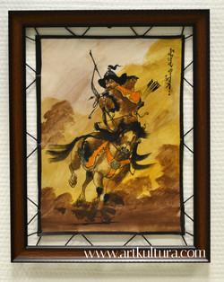 Оформление монгольской национальной живописи на коже