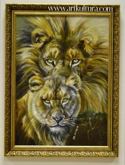 Лев и Львица. Живопись.
