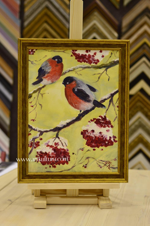 Y.Zharkova _Снегири_, _Bullfinches_