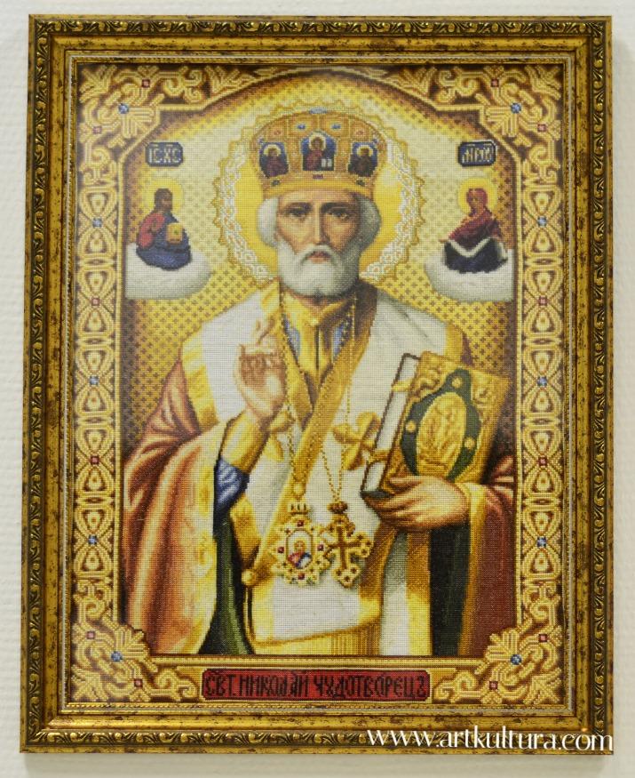 Св.Николай Чудотворец. Вышивка крестиком
