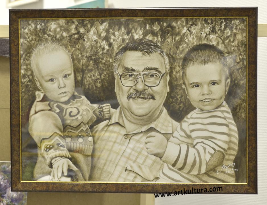 Портрет деда с внуками
