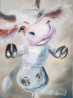 Серебристый бык Лео